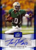 2012 Leaf Robert Griffin III Blue Autograph