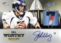 2012 Panini Absolute Memorabilia Hall Worthy John Elway Autograph Card