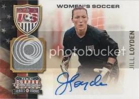 2012 Panini Americana Jill Loyden Autograph USA Soccer Jersey Card