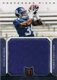 2012 Panini Momentum Preferred Picks Jumbo David Wilson