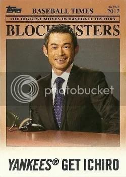 2012 Topps Update Blockbusters Yankees Get Ichiro Card