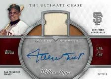 2013 Topps Series 1 Ultimate Chase Willies Mays Autograph Relic Card