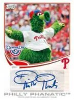 2013 Topps Opening Day Mascot Auto