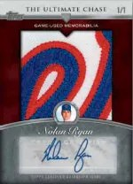 2013 Topps Series 1 Ultimate Chase Nolan Ryan Jumbo Patch Autograph