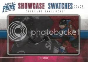 2011-12 Panini Prime Hockey Showcase Swatches #32 Joe Sakic #/25