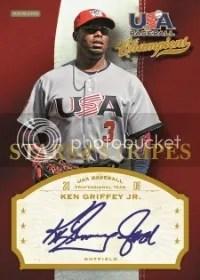 2013 Panini USA Baseball Champions Stars & Stripes Ken Griffey Jr Auto