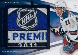 2011-12 Panini Prime Hockey Premiere Patches Materials #15 Derek Stepan #/3