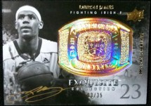 2011-12 Upper Deck Exquisite Championship Bling LeBron James Autograph #/35