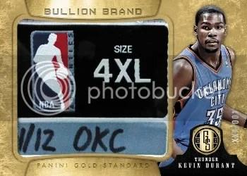 12/13 Panini Gold Standard Bullion Brand Kevin Durant