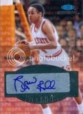 2012-13 Fleer Retro Spud Webb Autograph