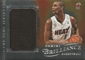 12/13 Panini Brilliance Chris Bosh Game Time Jersey