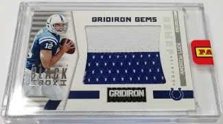 2013 Panini Black Box Gridiron Gems Jumbo Patch Andrew Luck