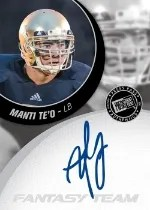2013 Press Pass Manti Te'o Autograph