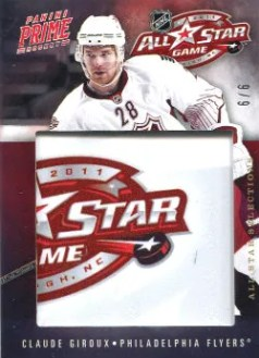 2011-12 Panini Prime All-Star Selections #29 Claude Giroux #/6