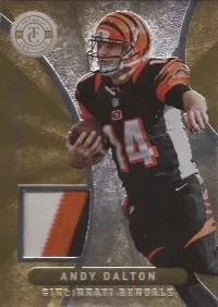 2012 Panini Totally Certified Andy Dalton Gold Materials