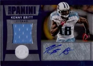 2012 Panini Totally Certified Team Panini Auto/Jersey #23 Kenny Britt #/50