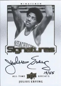 2013 Upper Deck All-Time Greats Sinatures Julius Erving