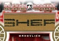 2012-13 ITG Motown Stickwork Hockey