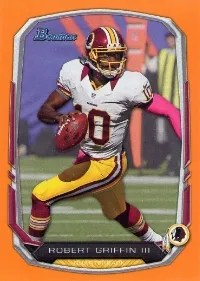 2013 Bowman Robert Griffin III Orange Parallel