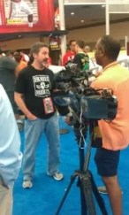 Tracy Hackler Being Interviewed