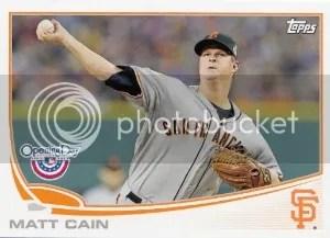 2013 Topps Opening Day #97 Matt Cain Base