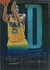 12/13 Panini Brilliance Anthony Davis Spellbound D