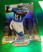 2012 Panini Prizm Calvin Johnson Green