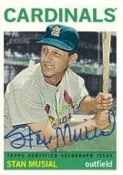 2013 Topps Heritage Stan Musial Autograph