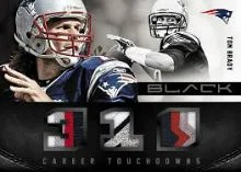 2012 Panini Black Tom Brady Patch