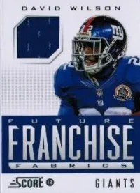 2013 Score Future Franchise Fabric #8 David Wilson
