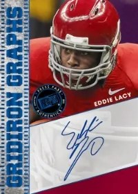 2013 Press Pass FanFare Gridiron Graphs Eddie Lacy Autograph