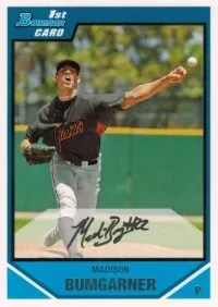 2007 Bowman Madison Bumgarner RC