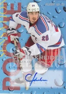 12-13 Fleer Retro RC Sensations Auto #5 of 18 Chris Kreider