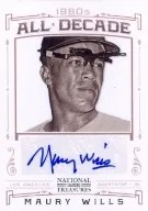 2012 Panini National Treasures Maury Wills