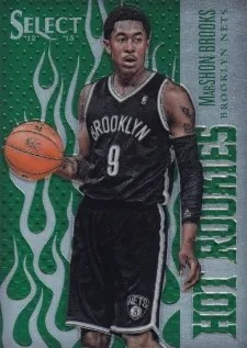 12/13 Panini Select Green Hot Rookie MarShon Brooks