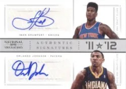 12/13 Panini National Treasures 11 vs 12 Iman Shumpert & Johnson
