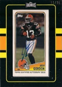 2013 Topps Archives Framed 1998 Auto Josh Gordon