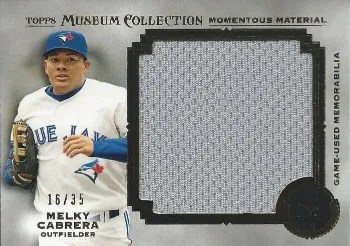 2013 Topps Museum Collection Momentous Material Melky Cabrera