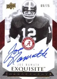 2012 Exquisite Endorsements Joe Namath