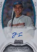 George Springer Bowman Sterling Autograph