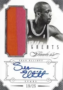 12/13 Panini Flawless Sean Elliott Patch/Auto
