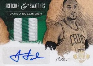 13-14 Panini Court Kings Sketches & Swatches Sullinger Jersey Auto