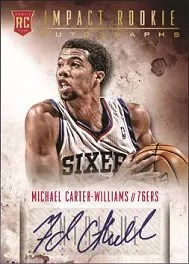 13/14 Panini Intrigue Basketball Michael Carter Williams Auto RC