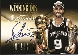 13/14 Panini Intrigue Winning Ink Tony Parker Auto
