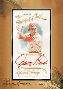 2014 Topps Allen & Ginter Johnny Bench Red Ink Auto