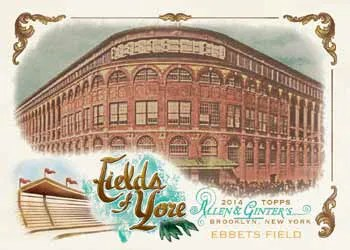 2014 Topps Allen & Ginter Fields of Yore Insert