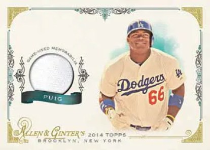2014 Topps Allen & Ginter Yasiel Puig Relic Card