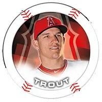 2014 Topps MLB Chipz Mike Trout