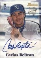 2000 Bowman Baseball Carlos Beltran