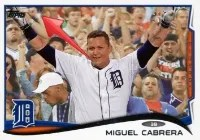 2014 Topps Series 1 Miguel Cabrera Sparkle